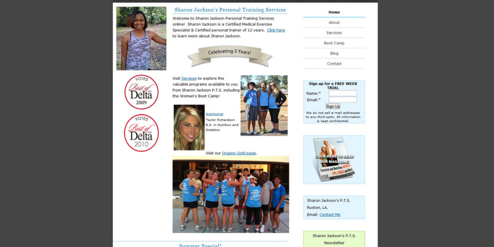 Sharon Jackson's Personal Training Services